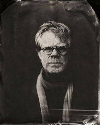 EXCLUSIVE PREMIUM RATES APPLY- William H. Macy poses for a tintype (wet collodion) portrait at The Collective and Gibson Lounge Powered by CEG, during the 2014 Sundance Film Festival in Park City, Utah. (Photo by Victoria Will/Invision/AP)