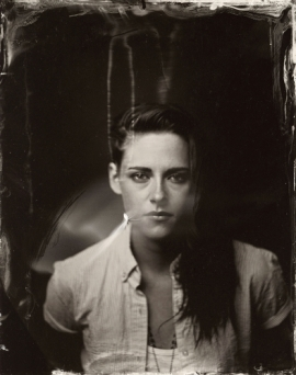 EXCLUSIVE PREMIUM RATES APPLY- Kristen Stewart poses for a tintype (wet collodion) portrait at The Collective and Gibson Lounge Powered by CEG, during the 2014 Sundance Film Festival in Park City, Utah. (Photo by Victoria Will/Invision/AP)