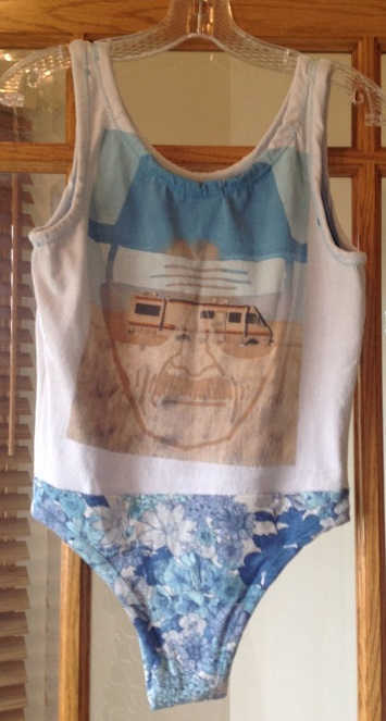 My Walter White bathing suit brings all the boys to the yard . . .