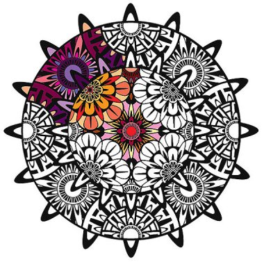Wall decal that you can color in yourself. What fun! By 1InfiniteGraphics who has a number of different styles