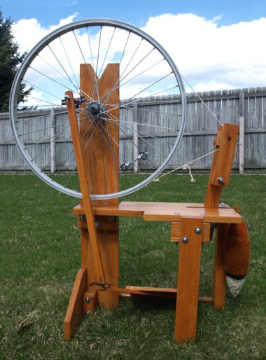 The most hipster project ever. How much time do you have on your hands that you're going to actually MAKE YOUR OWN SPINNING WHEEL?