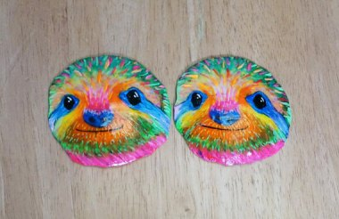 Sloth pasties, for when you're dancing to this. By MoonwardDreams