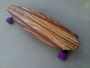 Exotic wood longboard. Gorgeous! By Croozerboards