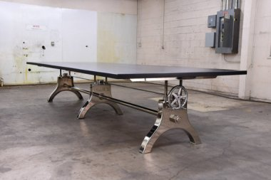 Like everything else they make, this conference table by VintageIndustrial makes me go all tingly!