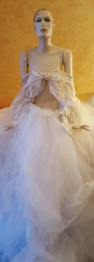 $149,000. 1000-piece lot of bridal dresses. If this is the best of them, I think I'll pass.