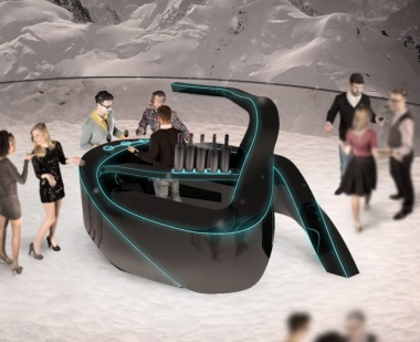 $250,000. This is a moveable, convertible bar that reacts to touch. I can't imagine who needs to spend that much on a bar, but it's nonetheless seriously cool. I don't want to buy it, but I do want a drink from it. By alexsandulescu21