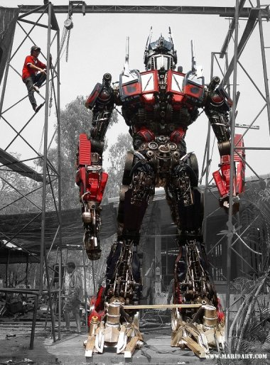 $20,000. If you find yourself in need of a 22-foot-tall robot sculpture, I guess $20K isn't such an outrageous price. And it ships from Thailand for just $0.10!