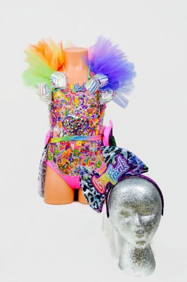 "This is a ""light-up Lisa Frank costume."" I don't know who Lisa Frank is, but if she's older than 12, somebody needs to give her a drug test."
