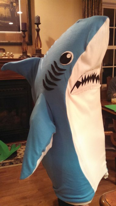 I assume this Left Shark costume comes with a bottle of Fireball and a long straw.