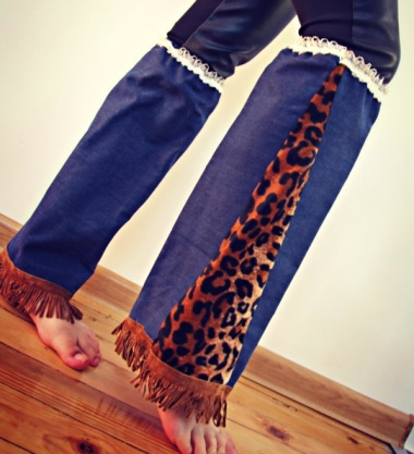These are denim leg warmers. More like soul chillers.