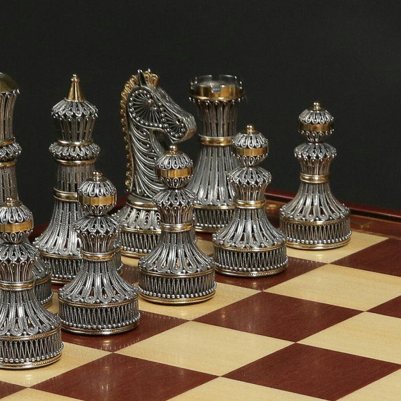 Filigree Chess Set