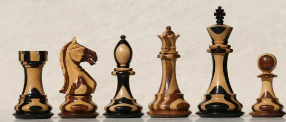Mixed wood chess set