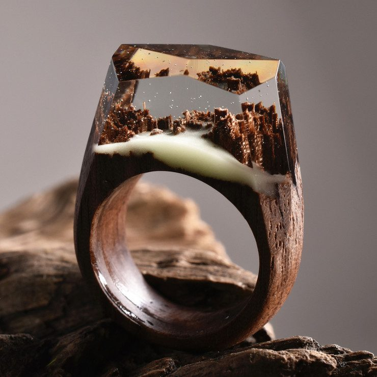 Secret Wood My OBT - Inside each of these wooden rings is a beautiful hidden world