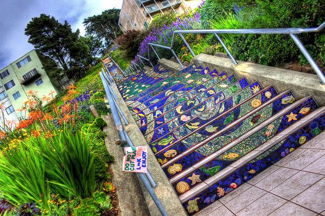 6th Avenue Tiled Steps, San FranciscoPhoto: Yellofish
