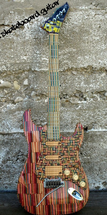 Recycled Skateboard Guitar by SecondShot