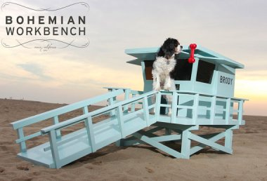 Lifeguard Stand Doghouse by BohemianWorkbench