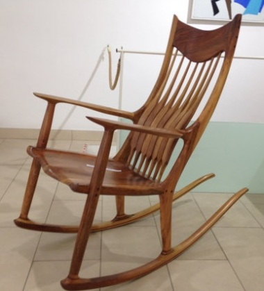 Sam Maloof-Inspired Rocking Chair by MilovicFurniture