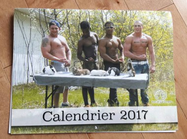 I get that calendars are sometimes very specific, but shirtless men and rabbits?