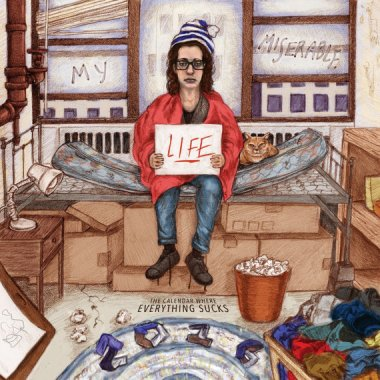 """""""My Miserable Life: the Calendar Where Everything Sucks"""" is maybe the most New York thing ever sold on Etsy, and I love it! By ChristinaMastrull"""
