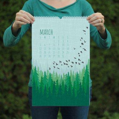 Absolutely stunning nature print calendar by ModernPrintedMatter