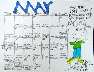 Ron's Funtime 2017 Calendar is smart, funny, and entirely hand drawn (even the calendar part). By OneCherryLane