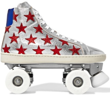 Saint Laurent roller skates ($1,195) These make me long for the days of roller disco.