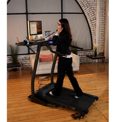 Exerpeutic 2000 WorkFit Treadmill Desk ($879). I would love this for exercising while I work on my blog, but if someone asks me a question while I'm on the treadmill, I immediately stop walking and fall off. I'd be dead in a week.
