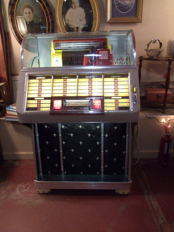 1952 M100c Seeburg Select-O-Matic JUKEBOX ($2,500) Oh, how I long for the space and the coin to own one of these beauties!