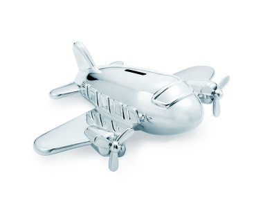Tiffany & Co. Airplane Bank ($2,500). Unless it's for actual gold doubloons, spending $2,500 on a coin bank seems a little nutty, even for Tiffany. Sure is pretty though!
