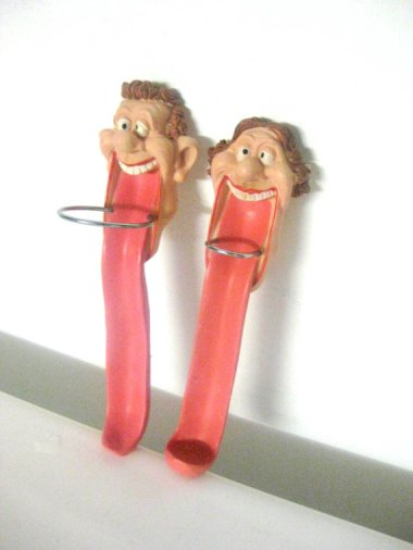 "Terrifying ""children's"" toothbrush holders. This is how bad dental hygiene gets started."