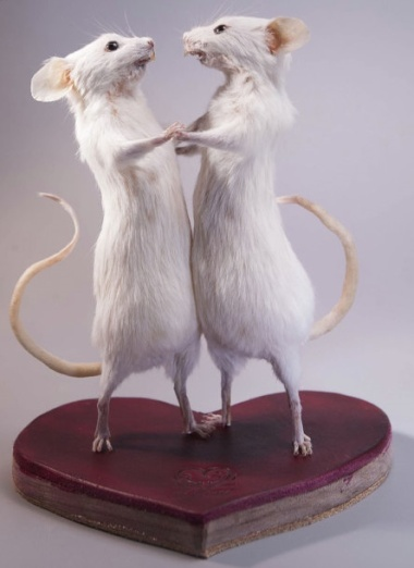 What's worse than one stuffed Valentine mouse? Well, two, obviously.