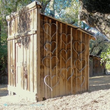 Look! It's the outhouse of love!