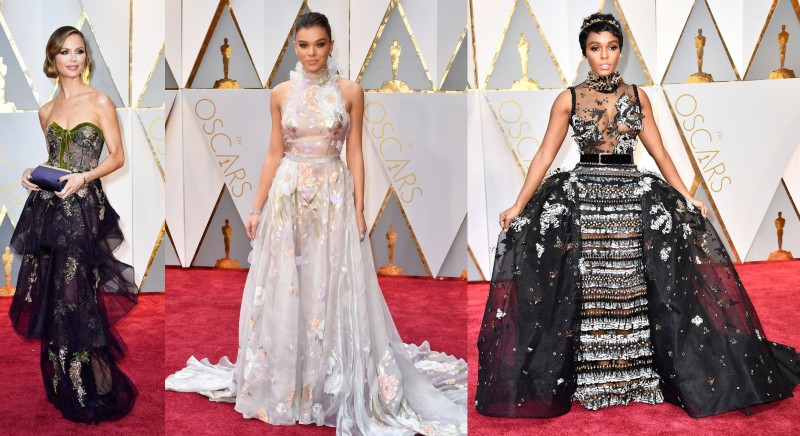 I noticed a lot of sheer gowns among the presenters, too!