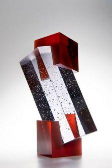 Heike Brachlow Trillith III 2013 cast glass 8.5 x 4.5 x 4.5 inches (installed)