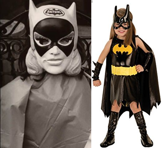 Bat Girl Then Now