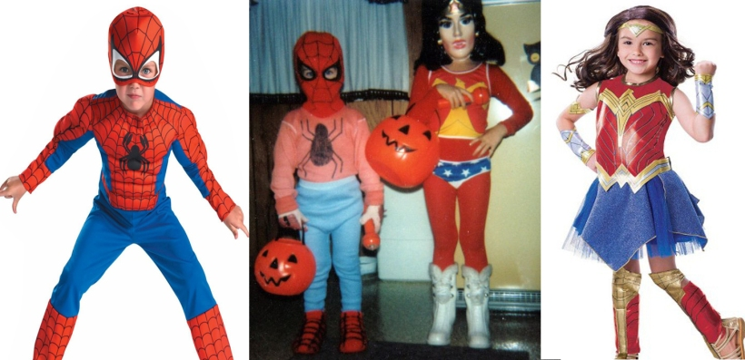 spiderman and ww then and now